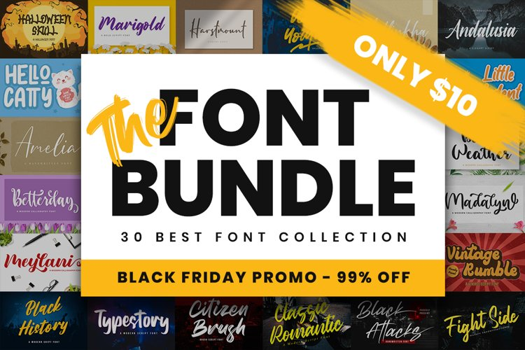 The Font Bundle - Black Friday Promo example image 1