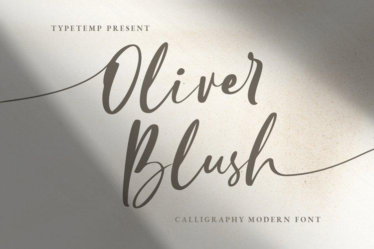 Oliver Blush Calligraphy Modern Font example image 1