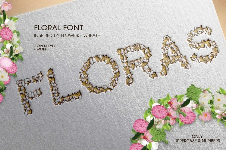 Floras - A Floral Font Open Type / Woff