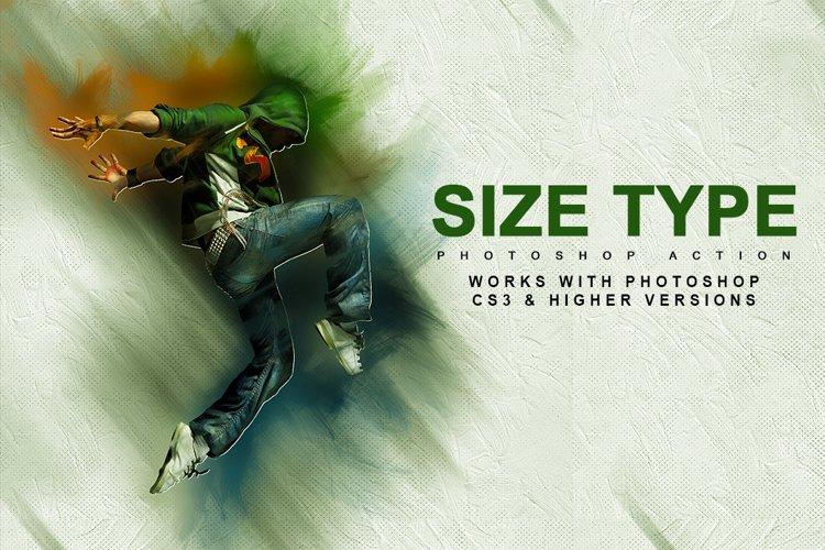 Size-Type-Photoshop Action example image 1