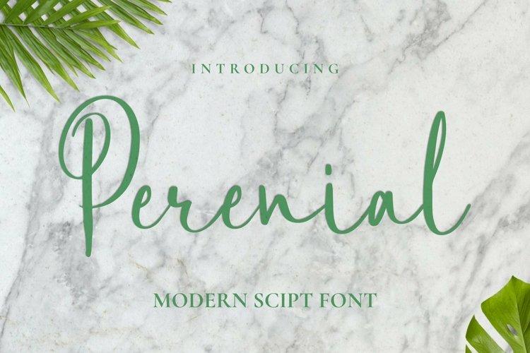 Web Font Perenial Font example image 1