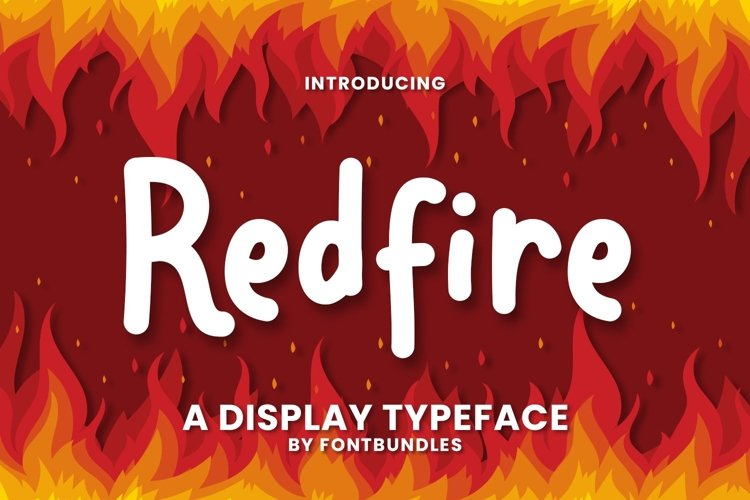 Web Font Redfire example image 1