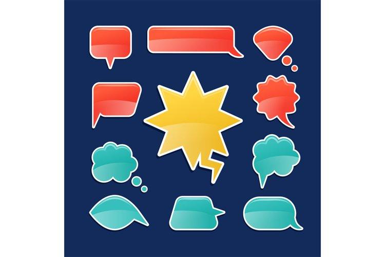 Cartoon speech bubbles example image 1