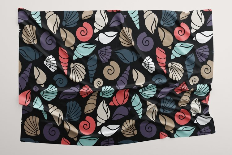 Seamless pattern of shell example image 1