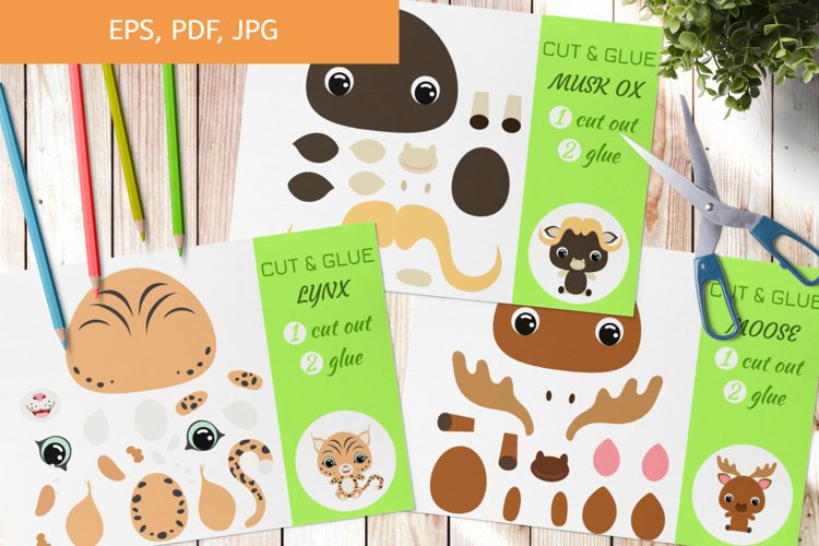 Cut and Glue Games for Kids - Animals Cut and Paste Craft example image 1