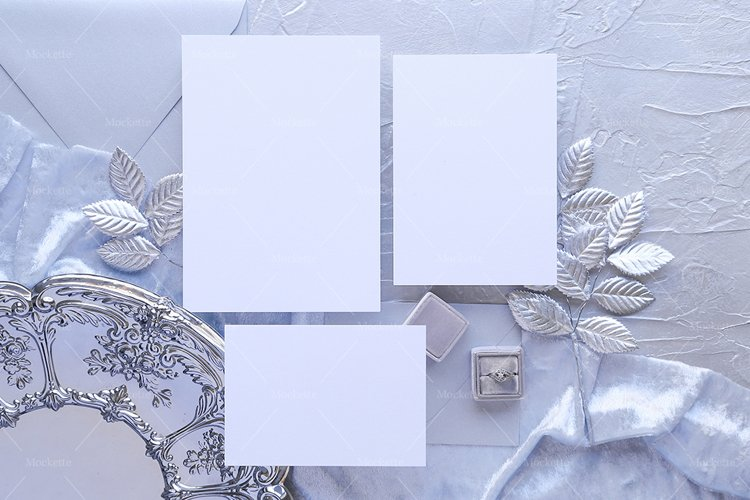 Wedding Stationery Mockup - Invite - Silver Collection