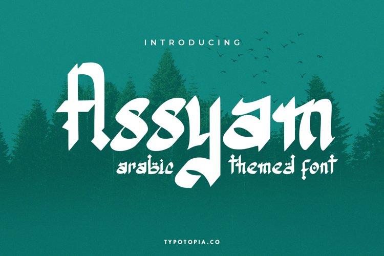 Assyam - Arabic Themed Typeface example image 1