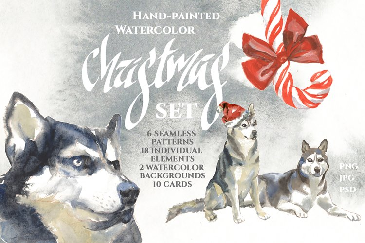 Chistmas Watercolor Set example image 1