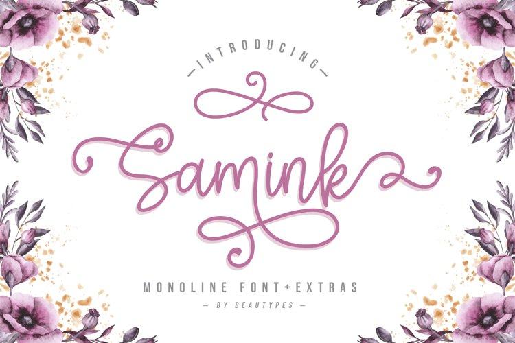 Samink Monoline font & Extras example image 1
