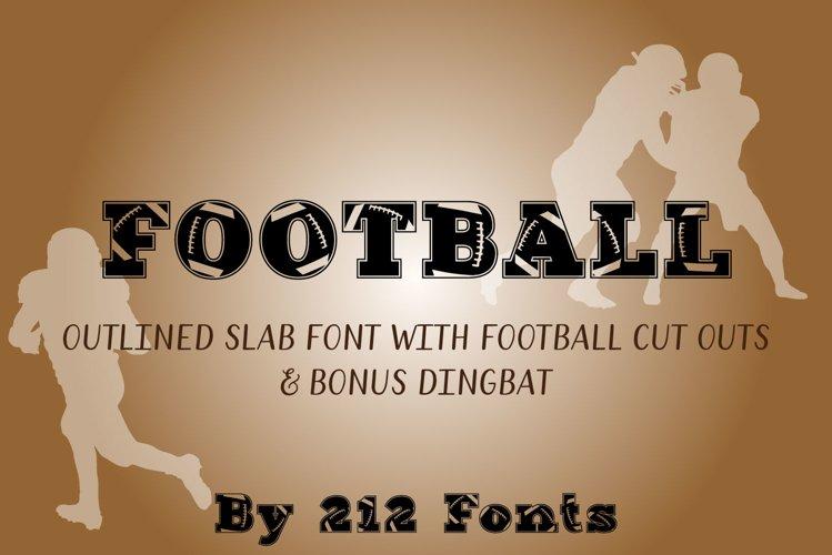 212 Football Display Font American Football and Dingbat OTF
