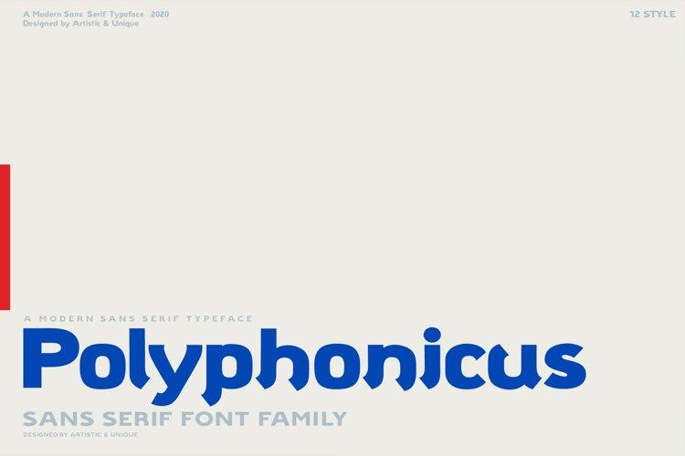 Polyphonicus - Sans Serif Font Family - OTF, TTF example image 1