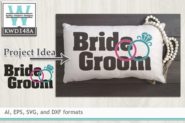Wedding SVG - Bride and Groom example image 1