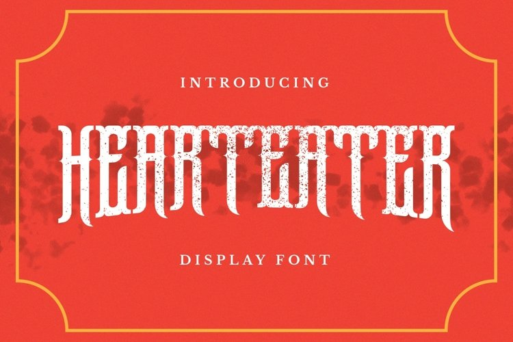 Hearteater Font example image 1