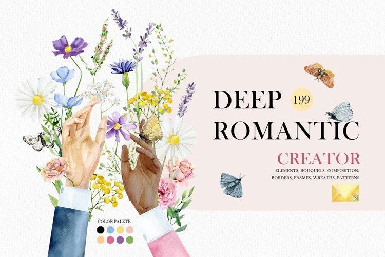 Watercolor meadow flowers, wild floral, wildflowers art