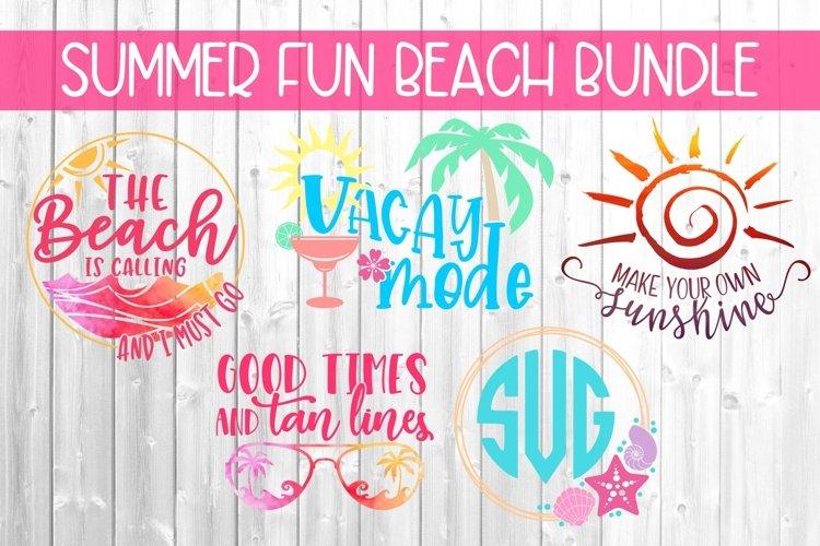 Summer Fun Beach Bundle SVG DXF PNG