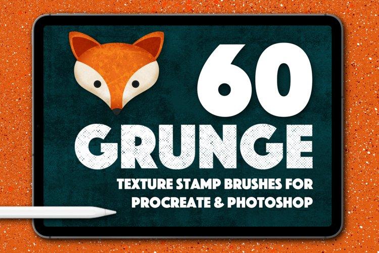 60 Grunge Texture Stamps Photoshop & Procreate example image 1