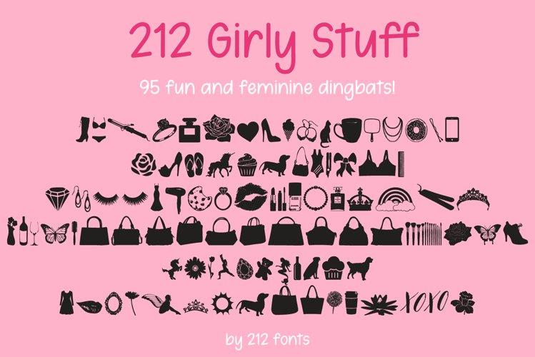 212 Girly Stuff Dingbat Font example image 1