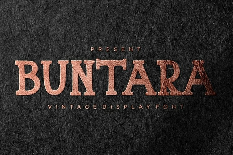 Web Font Buntara Display Font example image 1