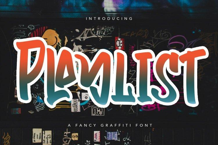 Web Font Playlist - Fancy Graffiti Font example image 1