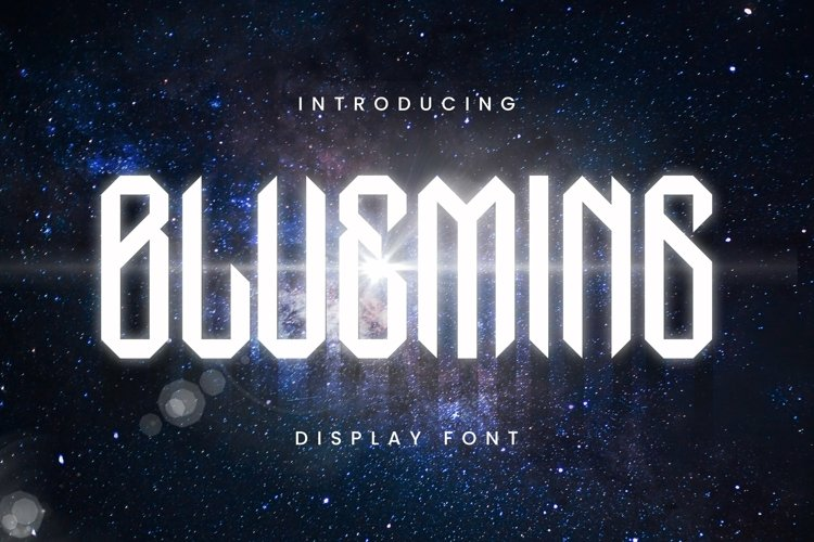 Web Font Blueming Display Font example image 1
