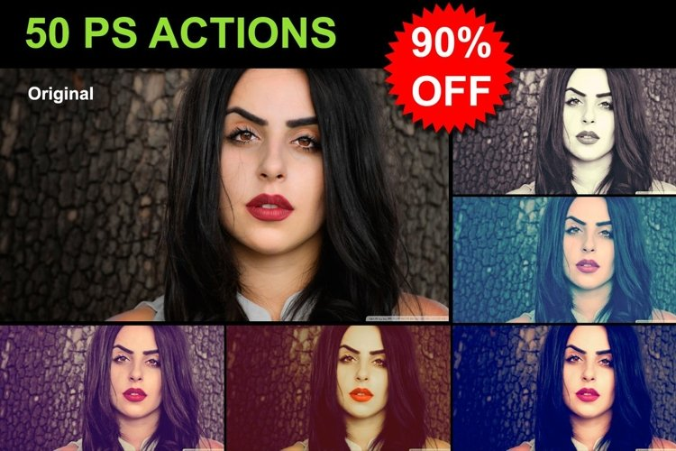 50 PS Actions - MEGA SALE example image 1