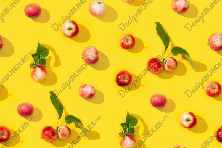 Small red apples seamless pattern example image 1