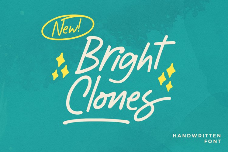 Bright Clones - Handwritten Font example image 1