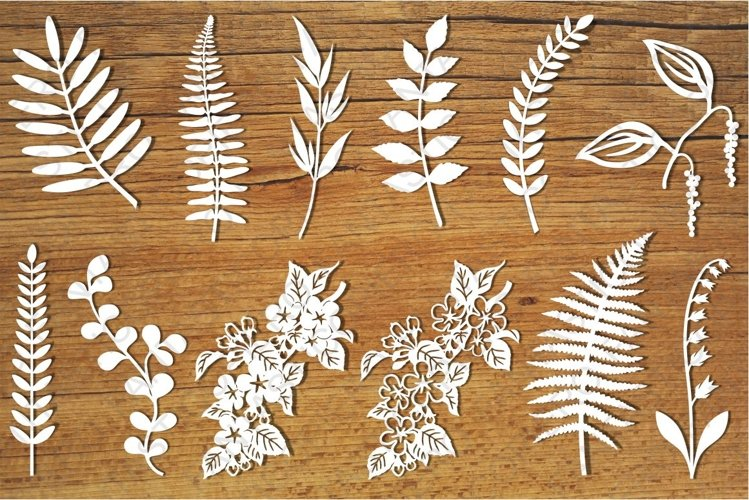 Leaves and flowers SVG files for Silhouette and Cricut.