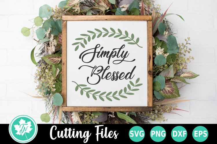 Fall SVG | Fall Sign SVG | Blessed SVG example image 1
