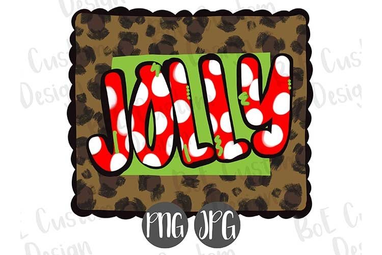 Jolly Leopard Print Christmas Clipart
