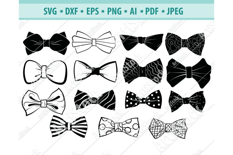 Bow Tie SVG, Bow Tie Clipart, Accessory Svg, Dxf, Png, Eps