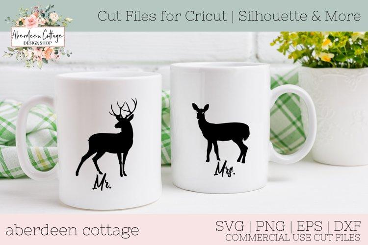 Deer Hunter's Mr. & Mrs. SVG - Hunting Coffee Mug Design example image 1