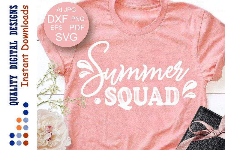 Summer squad SVG sayings Beach party decor Camping example image 1