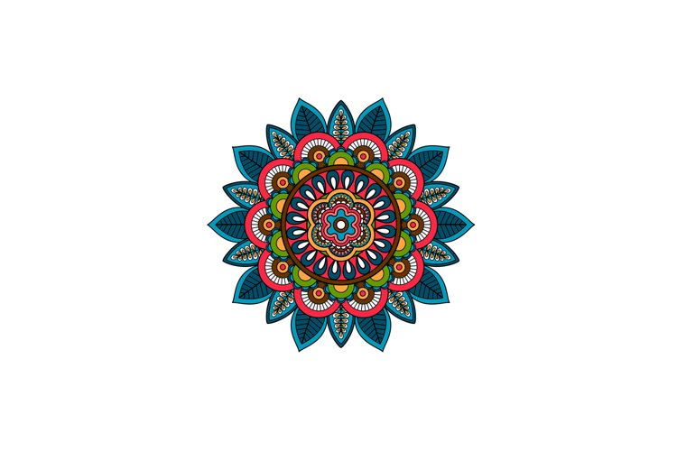 Decorative tribal mandala ornament rosette example image 1