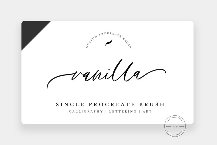 Vanilla | Single Procreate Brush, Lettering Brush example image 1