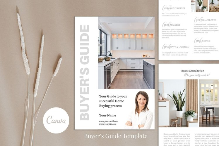 Real Estate Buyer's Packet, 12 Pages, Canva example image 1