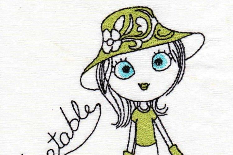 Swirly Garden Girl