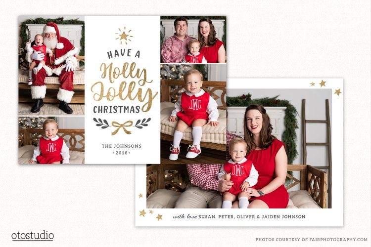 Christmas Card Template for Photographers CC245 example image 1