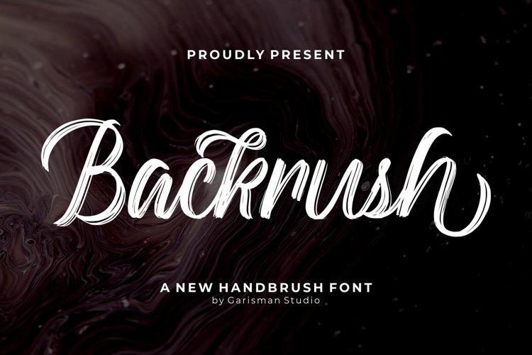 Backrush - Handbrush Script Font example image 1
