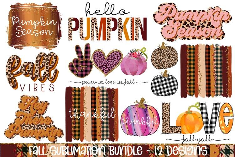 Fall Sublimation Bundle Designs, 12 Autumn PNG Designs