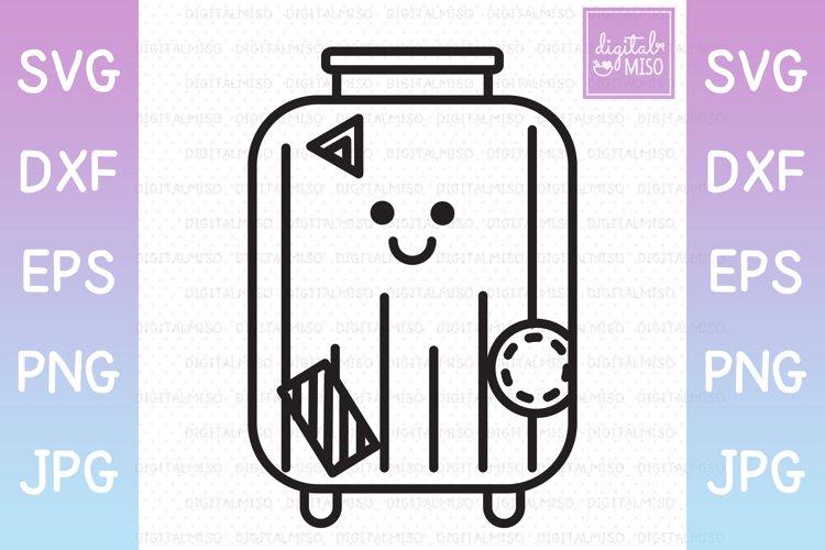 Luggage Outline - Kawaii Vector Icons