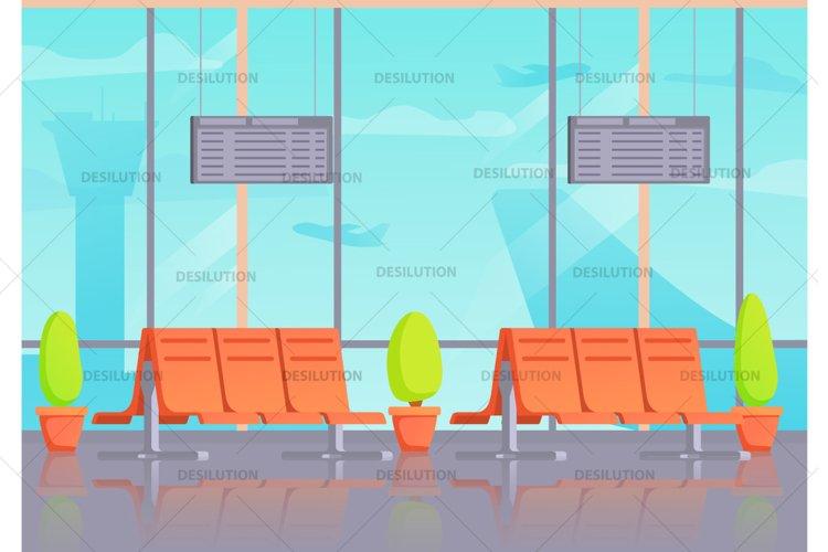 Airport terminal waiting departure. example image 1