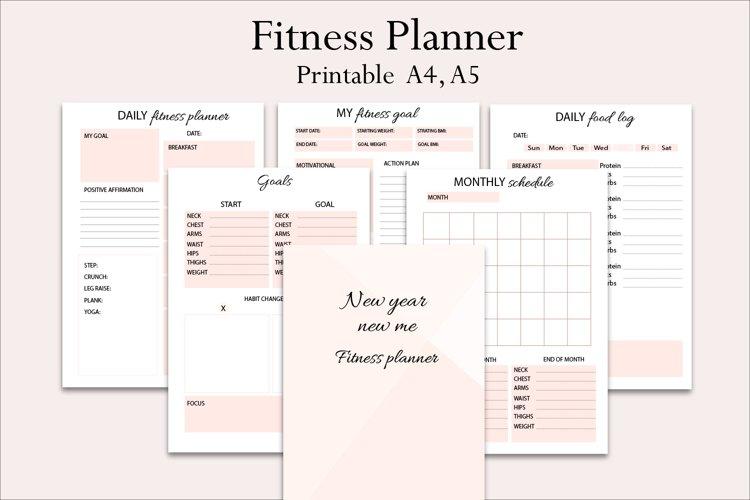 Fitness planner, New year new me planner, goal planner