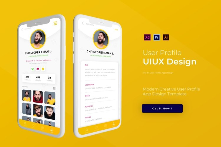 User Profile | App Template example image 1