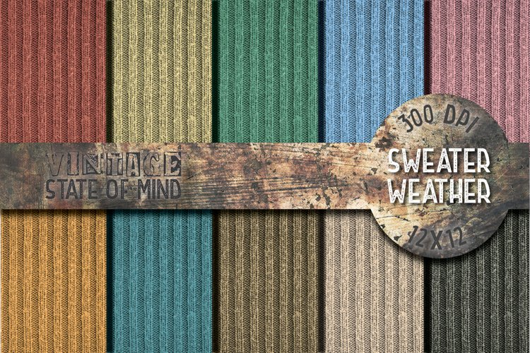 Sweater Weather Digital Papers