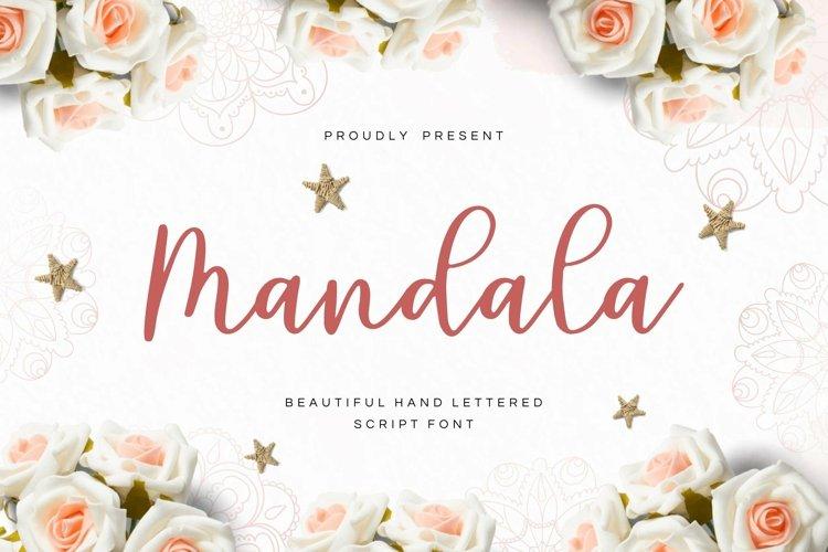 Web Font Mandala - Script Font example image 1