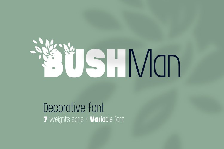 Bushman font set example image 1