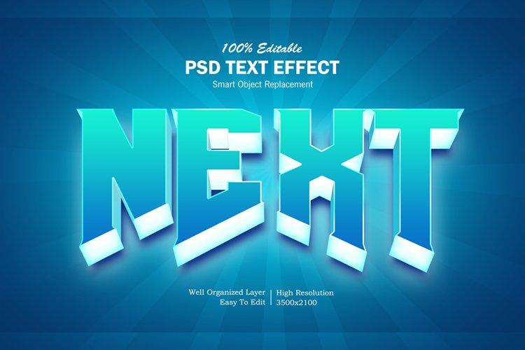 Next 3d Pop Up Editable PSD Text Effect