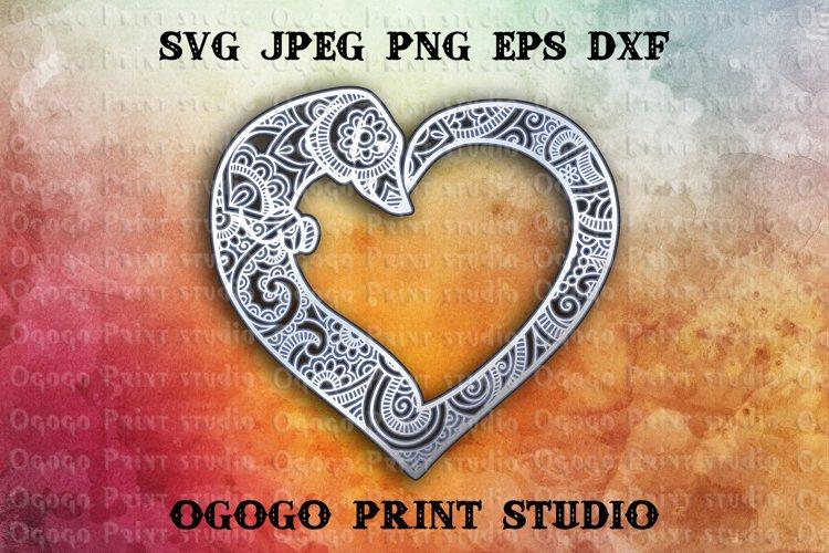 3D Layered Dachshund Mandala Svg, Zentangle SVG, Pet lover example image 1