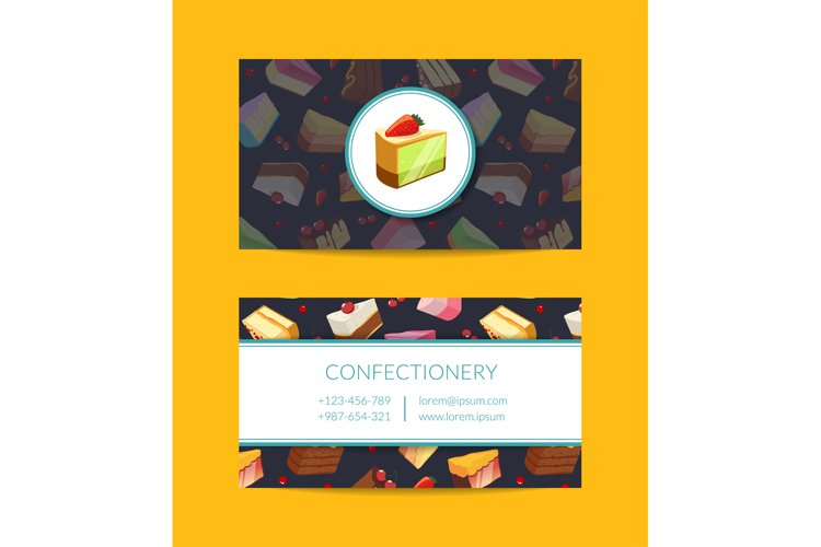 Vector confectionary, cooking or pastry shop example image 1